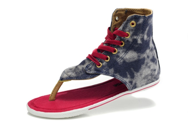 converse roman sandals gray white